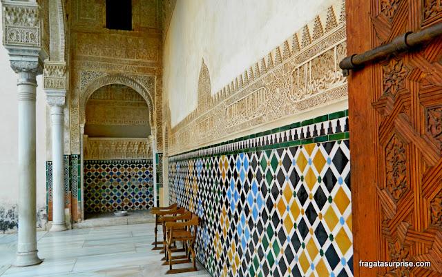 Alhambra, Granada - Pátio do Quarto Dourado, no Palácio Real