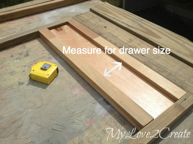 measuring for drawer size on entry table