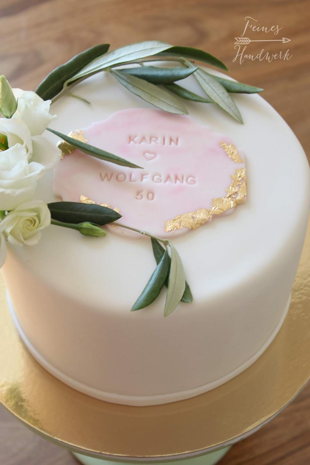 Feines Handwerk Elegante Blattgold Torte Zur Goldenen