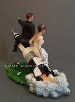 sposini per torte speciali sposi su missile in partenza cake topper divertente orme magiche