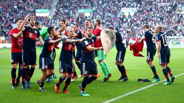Bayern Munchen Juara Bundesliga 2017/2018 dengan Sisa Lima Pertandingan