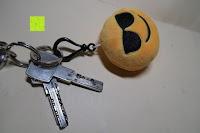 """am Schlüsselbund: Smakey®2""""mini Emoji Gesicht Express Plüsch Spielzeug Schlüssel Kette Tasche Zubehör Satz von 7"""