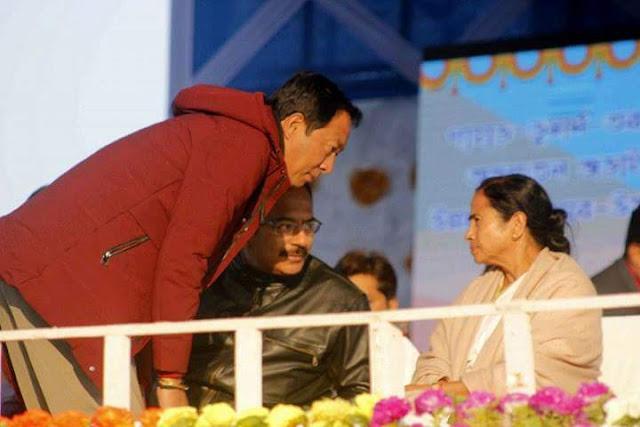 Binay Tamang with Mamata Banerjee