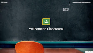 Welcome to Google Classroom Screenshot