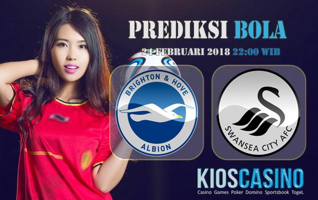 Prediksi Skor Brighton Hove Albion vs Swansea 24 Februari 2018