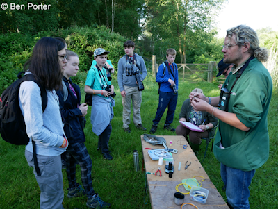 Bird ringing demonstration at BTO Bird Camp 2017