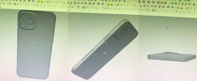 القوالب التي تُظهر التصميم الكلاسيكي لخط 5G Apple iPhone 12