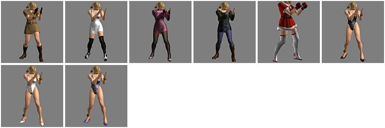 Complete List Of Nina Williams Ttt2 Customization Optionsns Blonde Bomb Tekken S Nina Williams