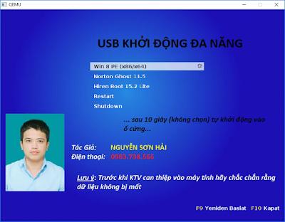 Hình ảnh test Boot USB trên Win