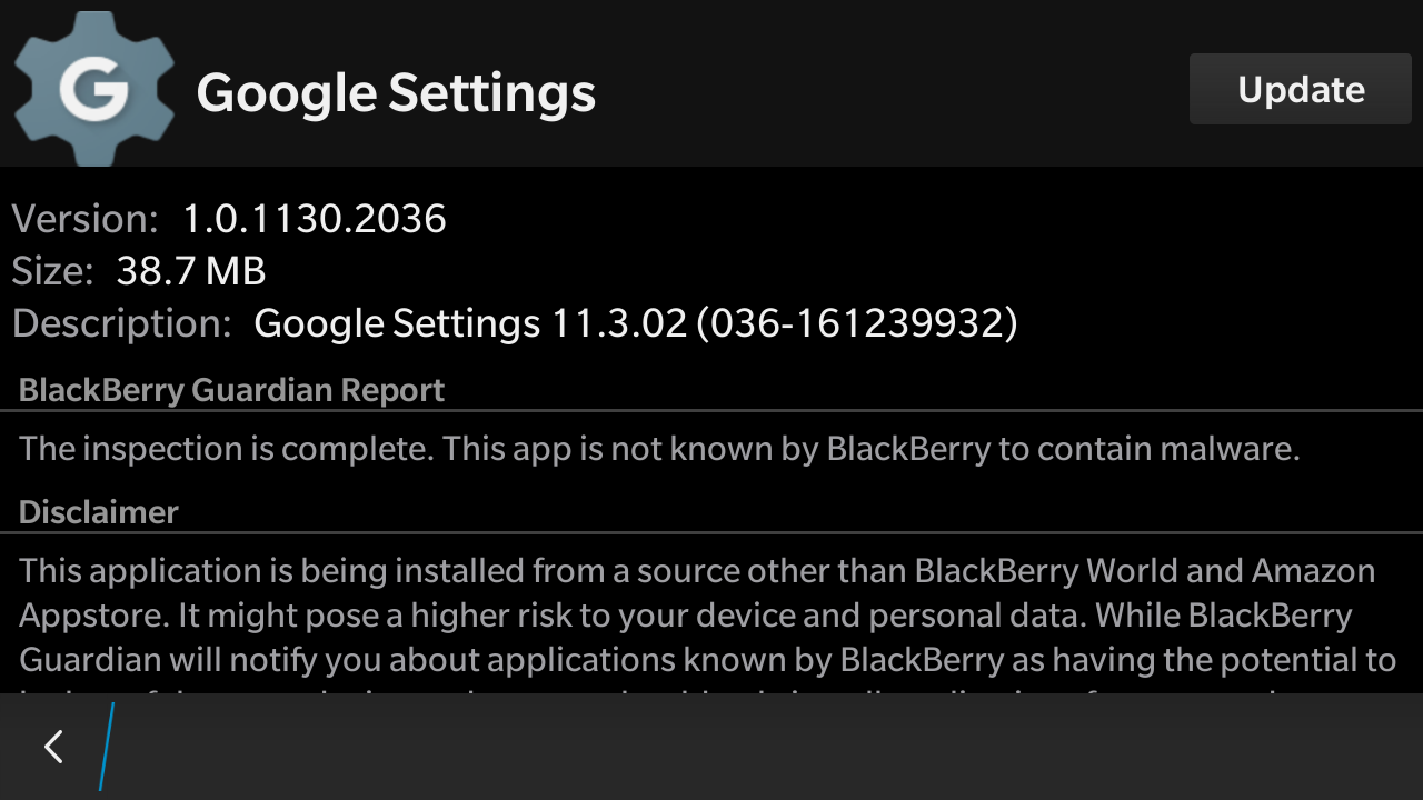Google Play Store for BB10 Build-2 0 latest update