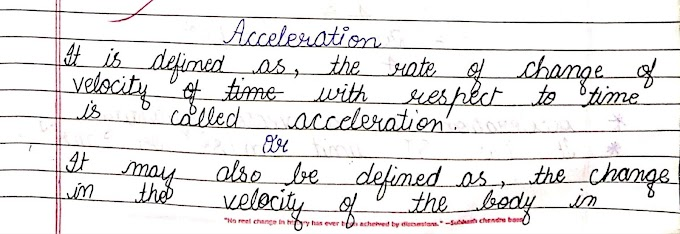 Acceleration and based numerical