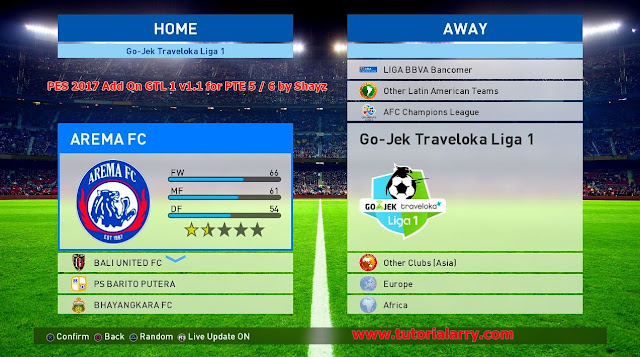 PES 2017 Add On Gojek Traveloka Liga 1 v2.1 PTE 5 / 6 by Shayz