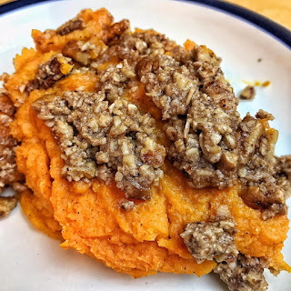 vegan sweet potato casserole recipe, dairy free, recipe Thursday, sweet potato recipes, casserole, vegan recipe, jaime messina