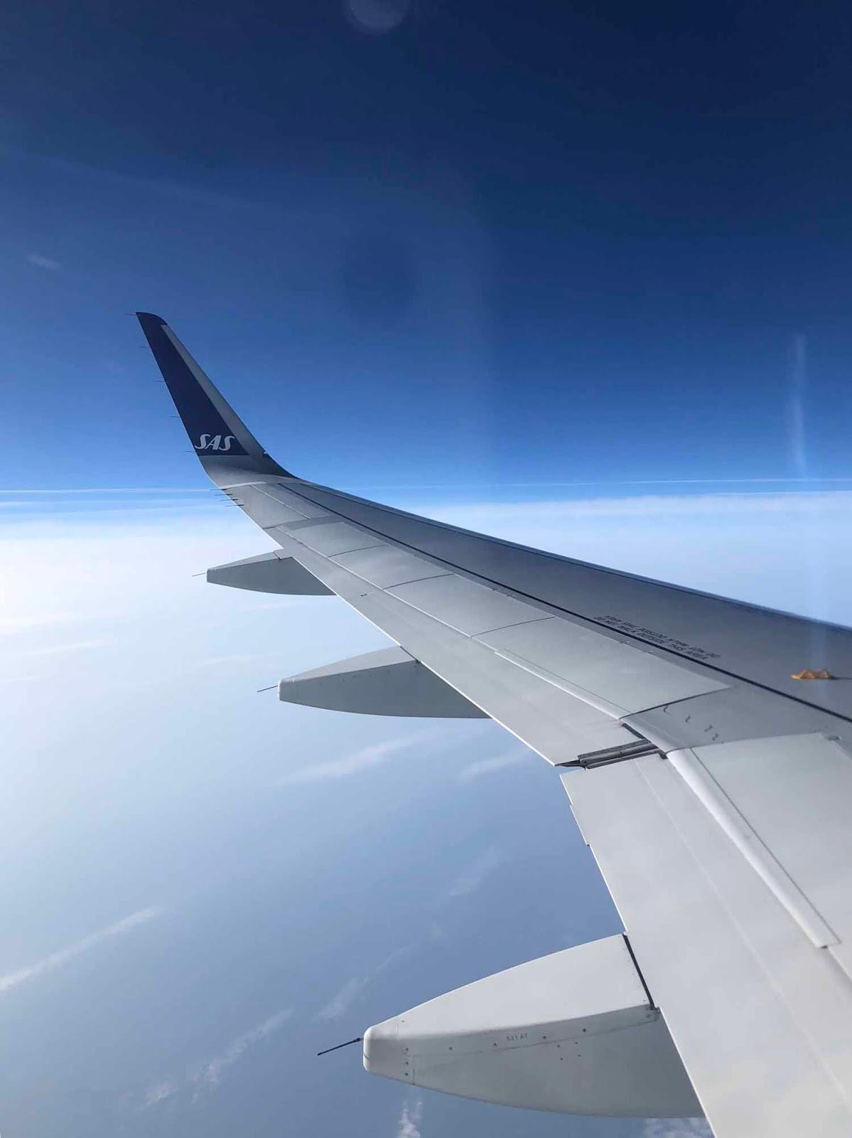SAS lento lentokone airplane