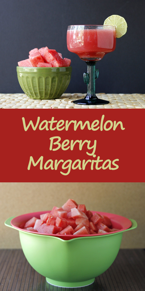 Watermelon Berry Margaritas (and how to make watermelon-strawberry juice)
