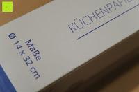 Maße: Lumaland Cuisine Küchenrollenhalter aus Bambus mit Edelstahl Spitze, Ø ca. 14 cm x 32 cm