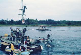 Fotografía del rodaje de Tiburón