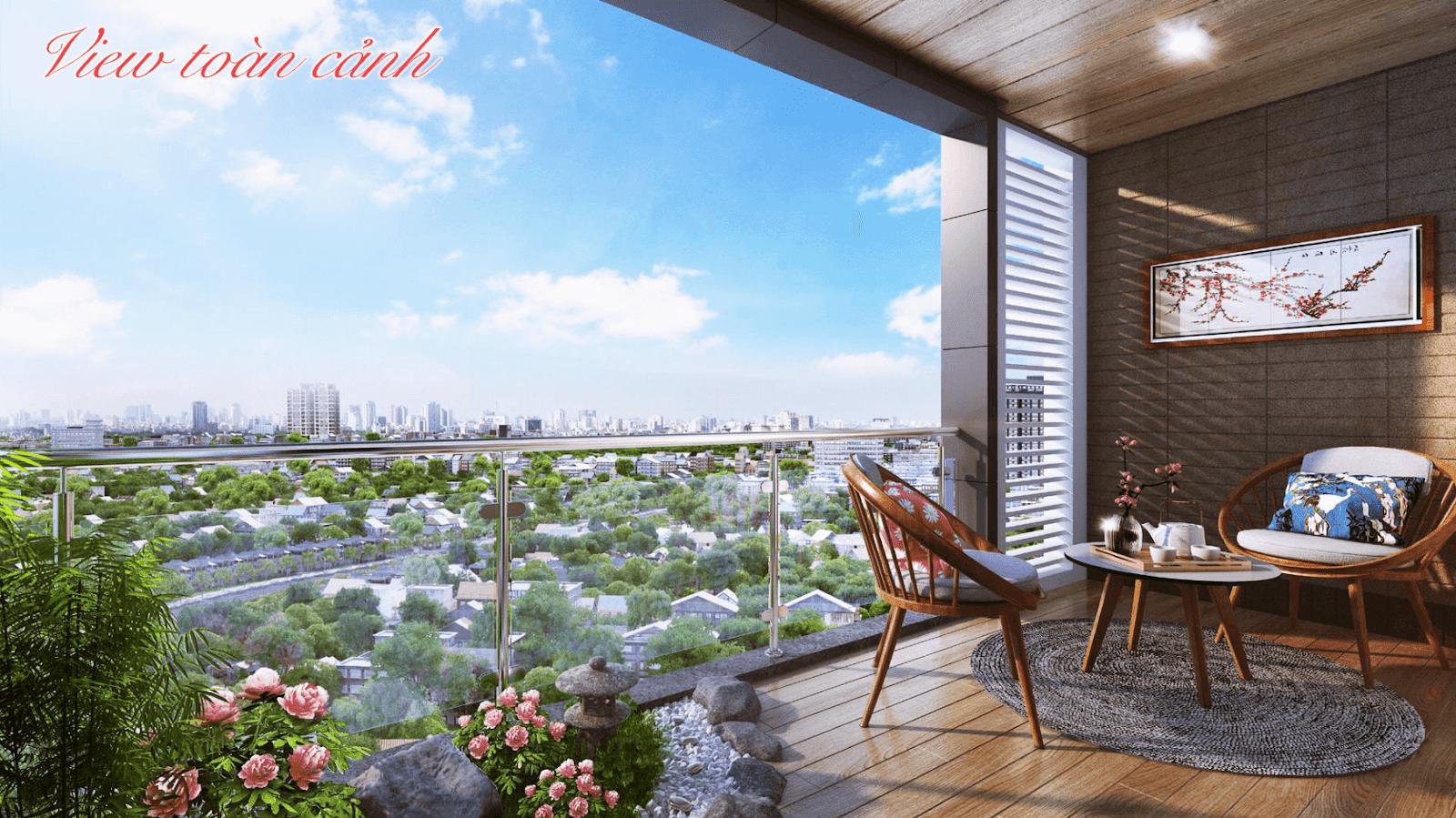 View toàn cảnh của dự án Hinode city Minh Khai
