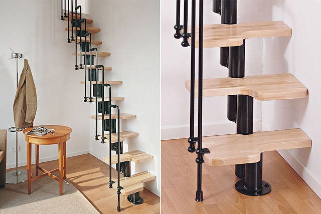 wooden stair designs for small spaces