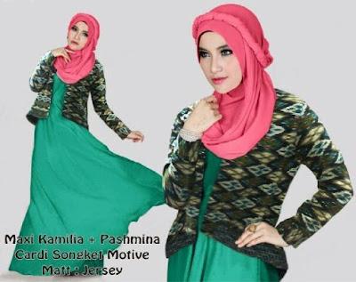 Jual Plus Jilbab / Kerudung 3 In 1 Kamilia Maxy Dress - 12308