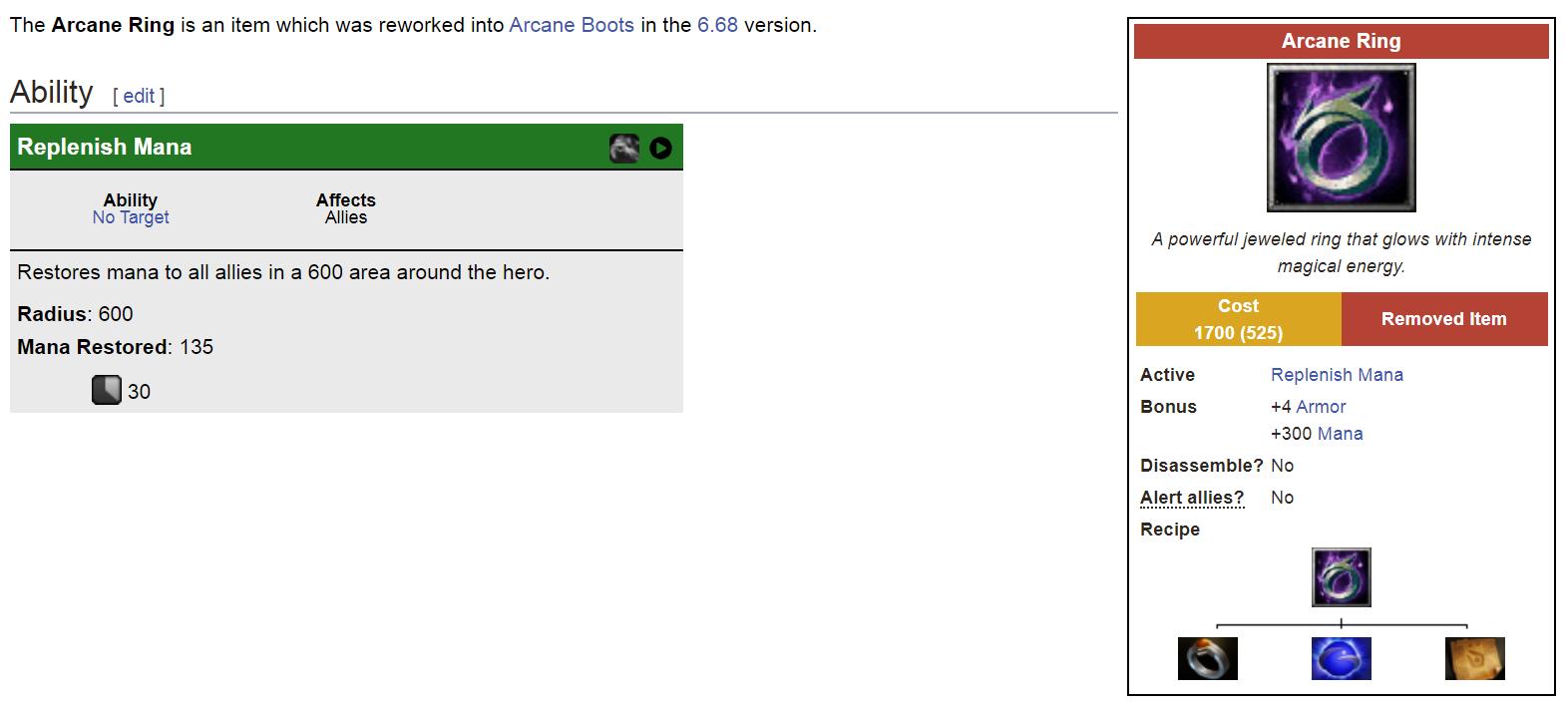 """arcane ring - Những trang bị """"cực phẩm"""" của DOTA 1 đã bị """"bay màu"""" (Phần 2)"""