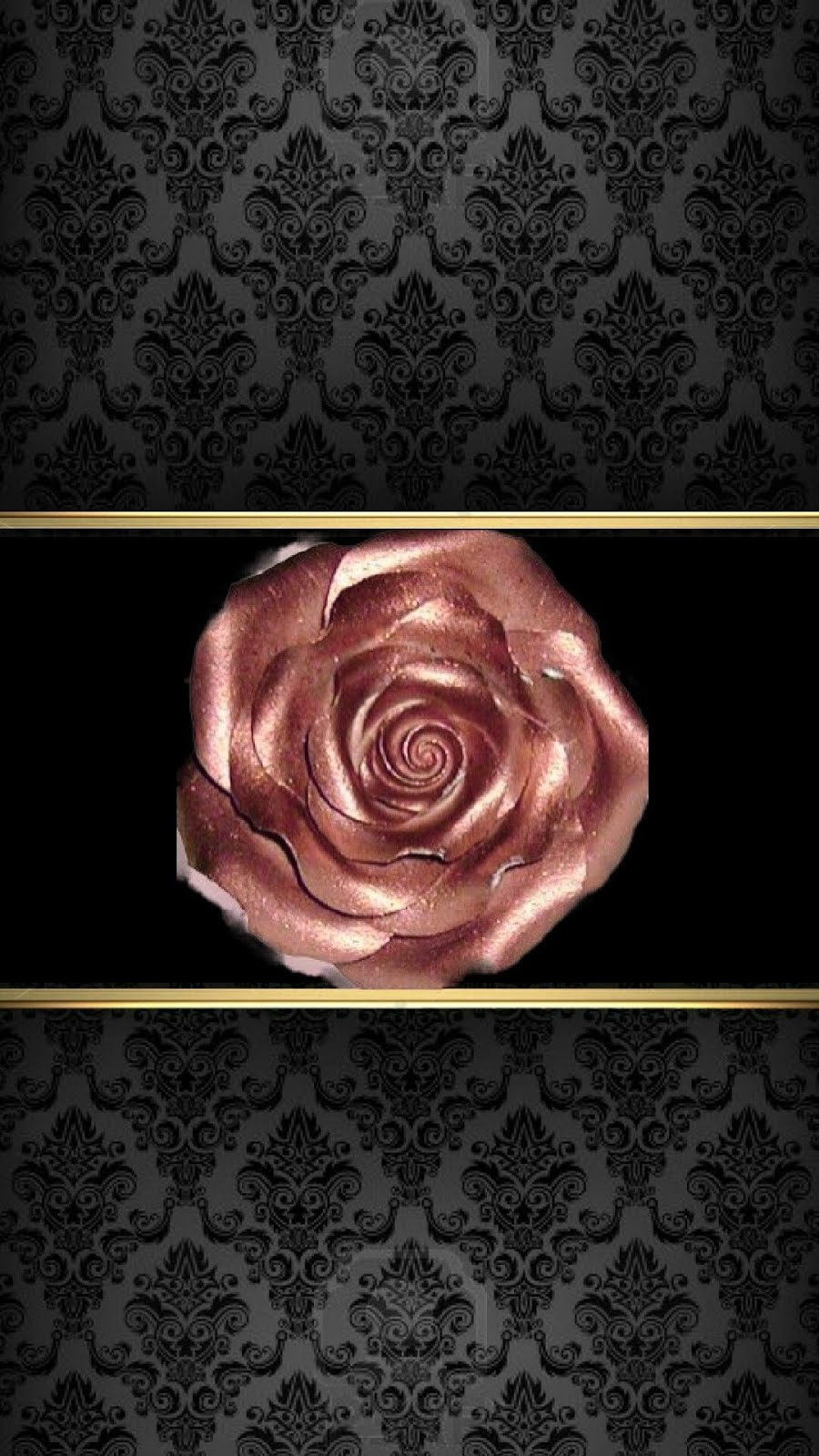 Black Gold Rose Gold Wallpaper By Artist Unknown