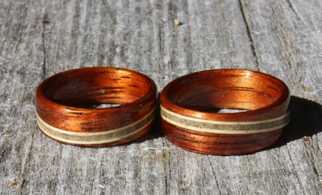 Hawaiian Wood Wedding Rings