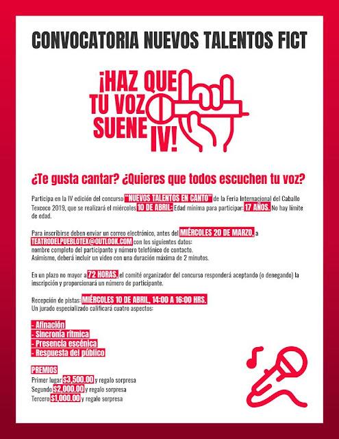 concurso de canto feria del caballo texcoco 2019