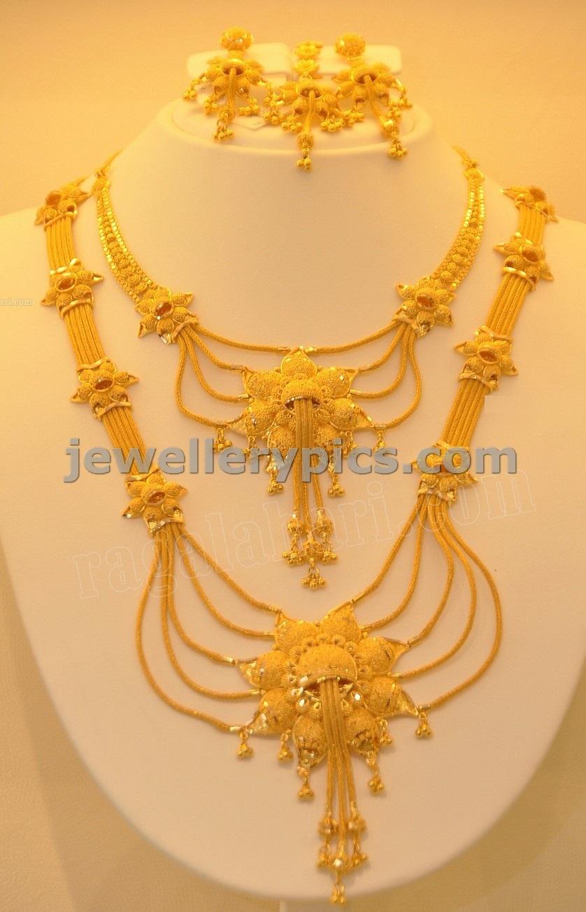 27ca8d23b88 Gold Haram designs in Khazana jewelelrs - Latest Jewellery Designs