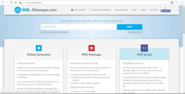 Tự động ghi File Sitemap.xml với PHP và MySQL - thegioitrithuc.me