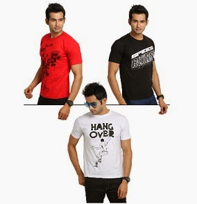 HomeShop18  Offer: TSX Men's Graphics T-shirts – Set of 3 just for Rs.549 Only with Free Shipping (for Today Only)