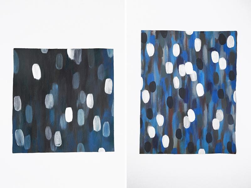 Abstrakte Malerei in Blau und Weiß | Tasteboykott
