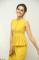 Taapsee Pannu looks mesmerizing in Yellow for her Telugu Movie Anando hma motion poster launch ~  Exclusive 054.JPG