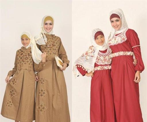 gaun pesta muslim ibu dan anak terbaru 2016/2017
