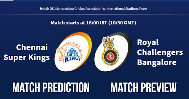 IPL 2018 Match 35 CSK vs RCB Match Prediction, Preview and Head to Head: Who Will Win?