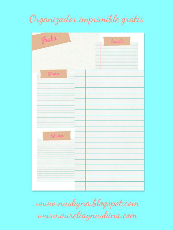 Planificador diario imprimible gratis