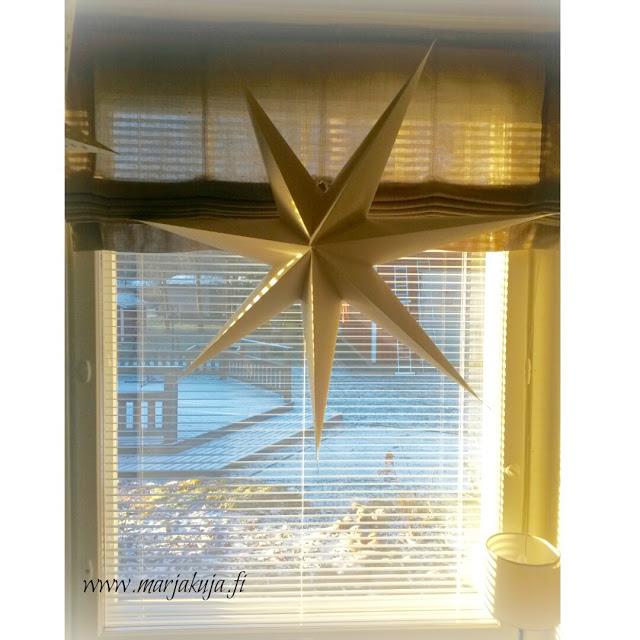 paperitahti ikkunassa