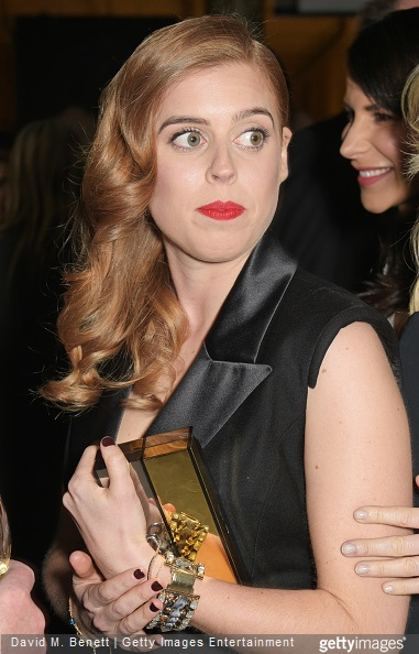 Princess Beatrice of York attends the Alexander McQueen: Savage Beauty Fashion Gala