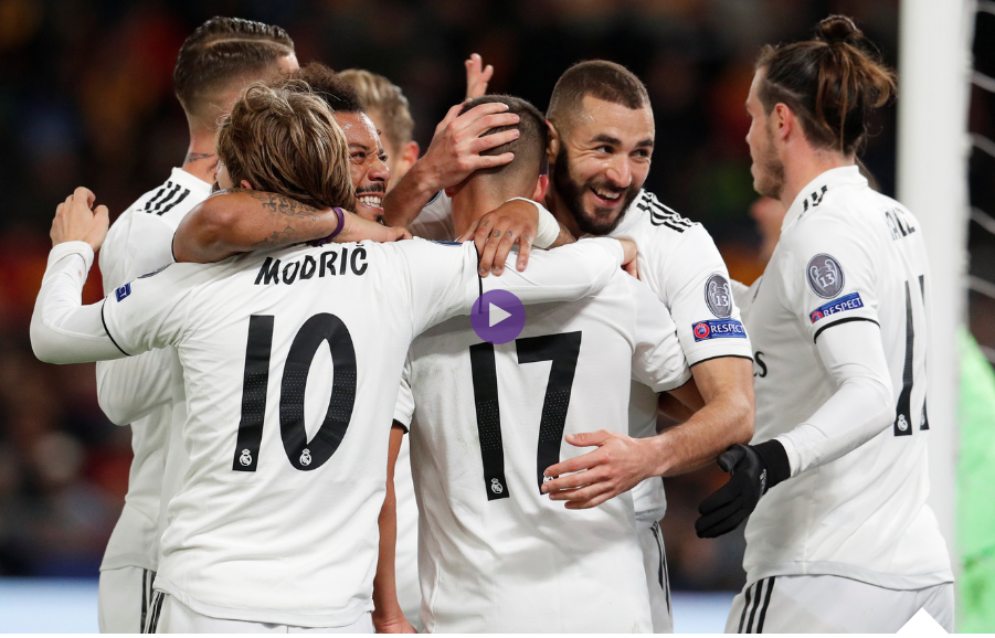 بالفيديو :ريال مدريد يهزم روما ويتأهلان معاً إلى ثمن النهائي شاهد الملخص والاهداف