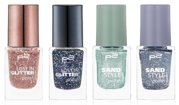 p2 lost in glitter polish und sand style polish