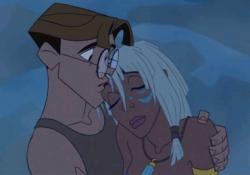 "Milo and Kida ""Atlantis: The Lost Empire"" 2001 animatedfilmreviews.blogspot.com"