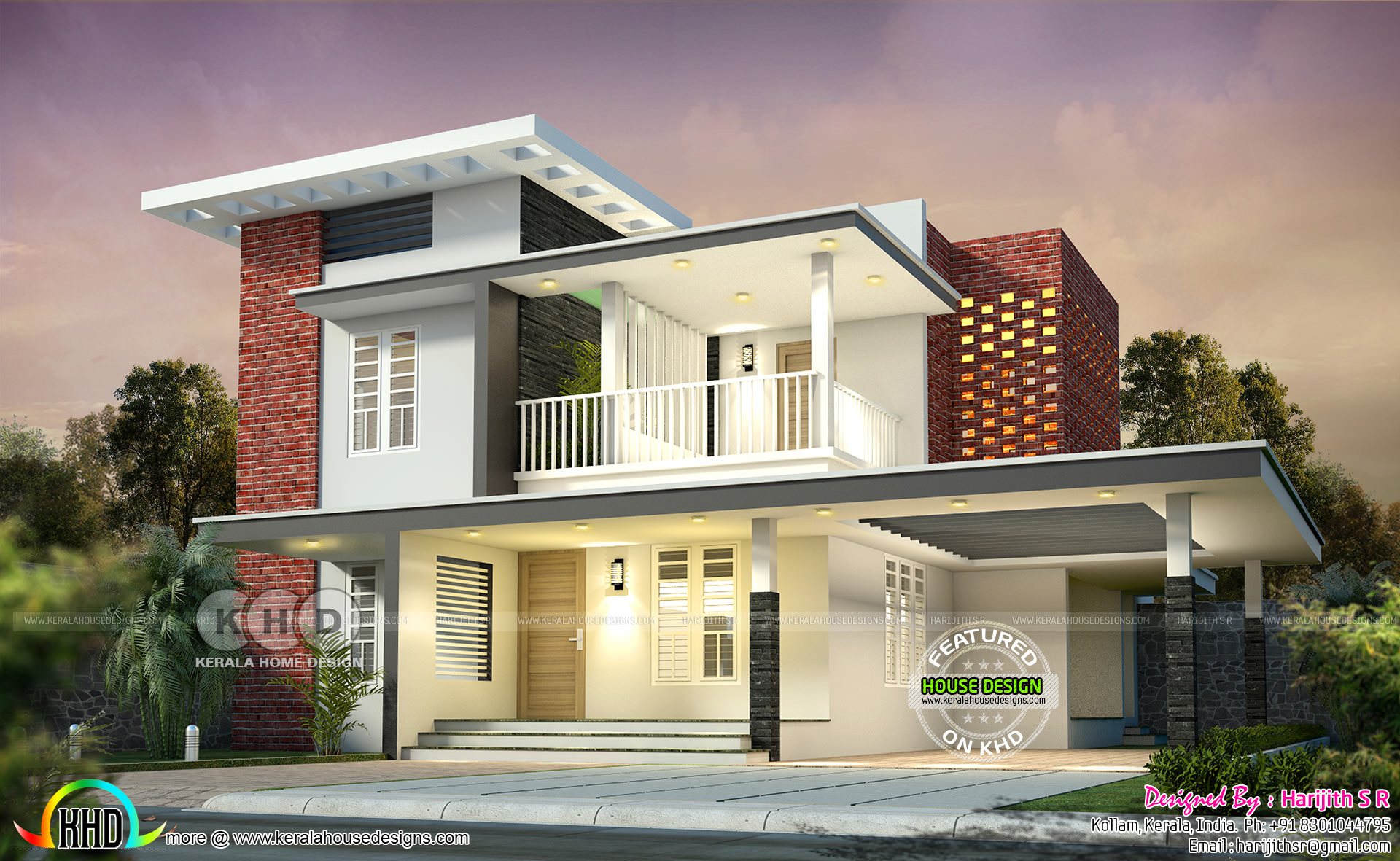 200 Sq M 2 Bedroom Attached Flat Roof House Kerala Home Design Bloglovin