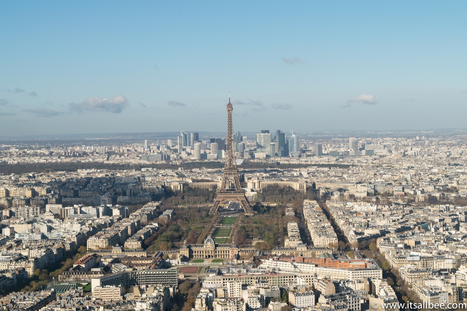 Paris From Monteparnes Tower - Eiffel Tower - Photo by Bianca - www.itsallbee.com
