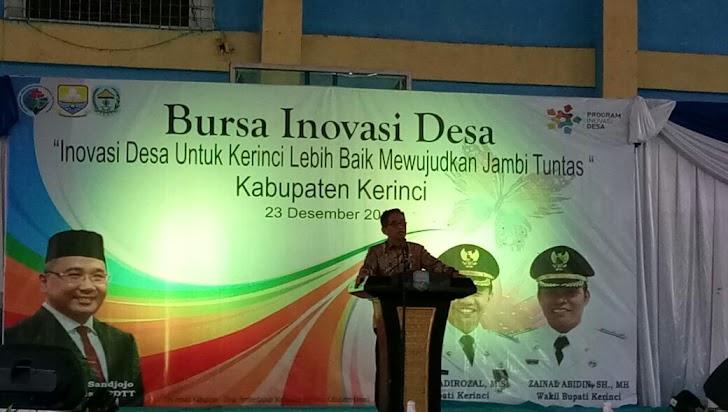Bursa Inovasi Desa di Kerinci Berlangsung Sukses