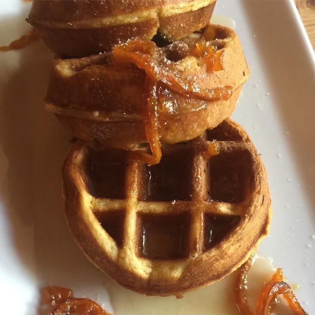 Maple Belgian Waffle Cake Recipe