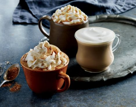 Starbucks Pumpkin Spiced beverages