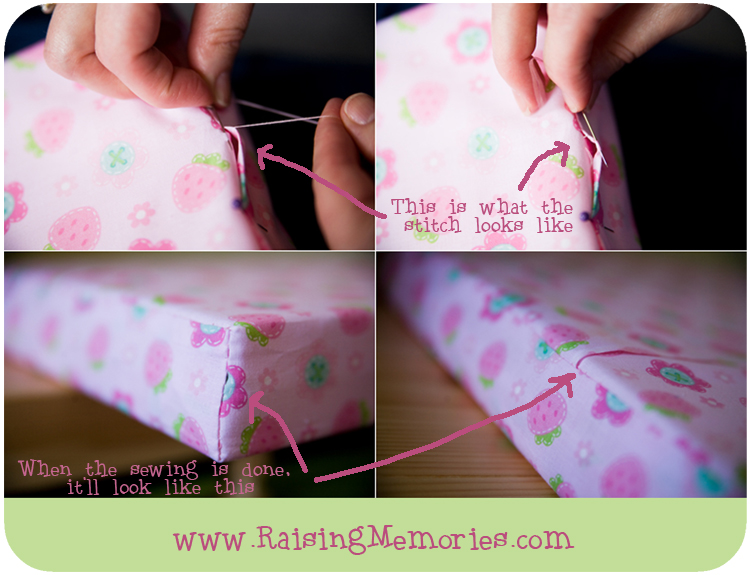 How to Make your own fabric cushion cover