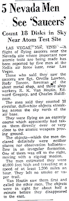 Mass Saucer Sighting Near Atomic Test Site - The Register Republic 4-19-1952