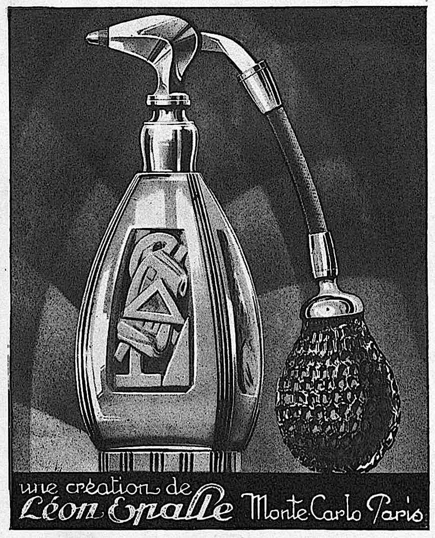 a Leon Epalle perfume atomizer illustration