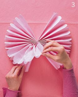 Membuat bunga dari kerta krep yang simple